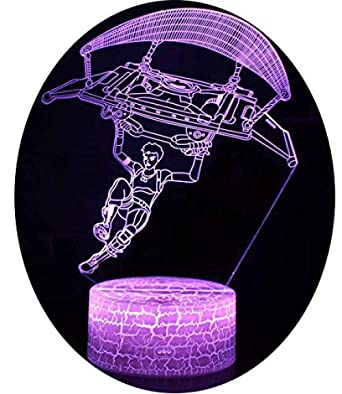 Ilusión 3D Luz de noche Lámpara de mesa de escritorio LED 7 ...