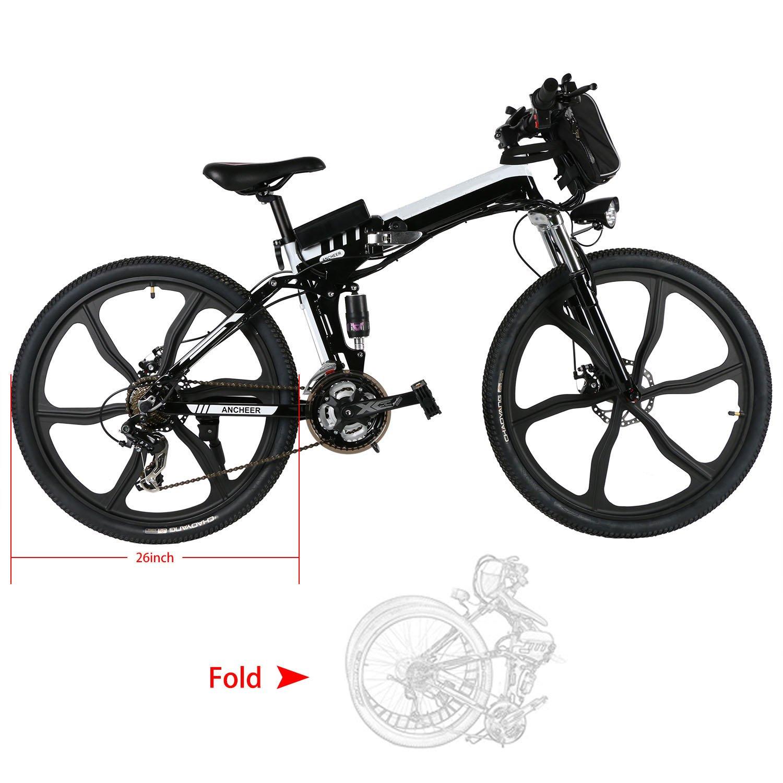 mymotto Mode 26 pulgadas plegado velocidad de bicicleta de montaña batería de iones de litio Vit eléctrico Pedelec 27 kmh negro: Amazon.es: Deportes y aire ...