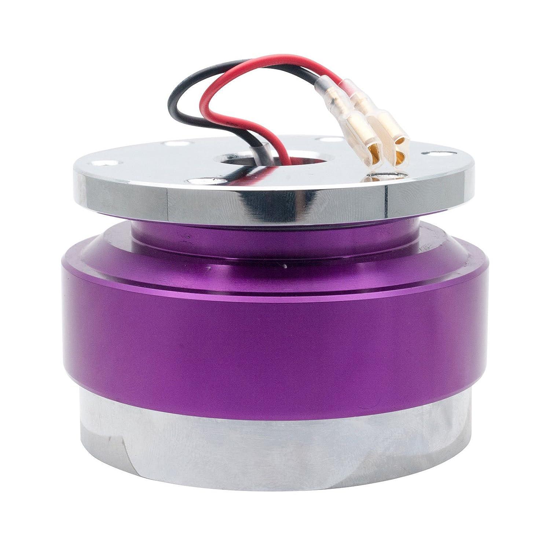 MASO Universal Steering Wheel Quick Release Hub Adapter Snap Off Boss Kit Red Car Steering Wheel Hub Adapter
