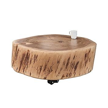 Schon Rustikaler Couchtisch GOA 65 Cm Akazie Massivholz Mit Rollen Unikat  Holztisch Tisch Beistelltisch