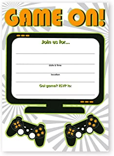 Amazoncom Party Invitations Pack of 40 Video Game Theme