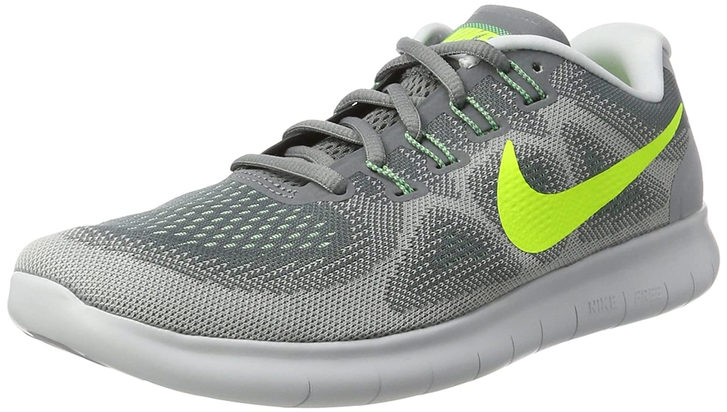 Nike - Free RN 2 Black/Hot Punch - Sneakers Hombre 42 EU Gris (Cool Grey/Volt/Wolf Grey/Ghost Green)