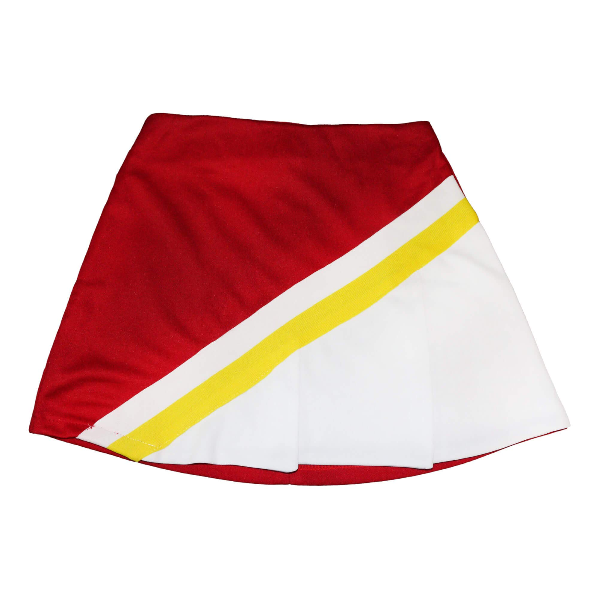 Danzcue Child Cheerleading A-Line Pleat Skirt, Scarlet-White, Large by Danzcue