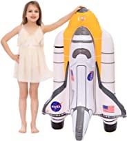 JOYIN Inflatable Space Shuttle Pool Float for NASA Astronaut Party Supplies, Summer Water Pool Toys for Kids