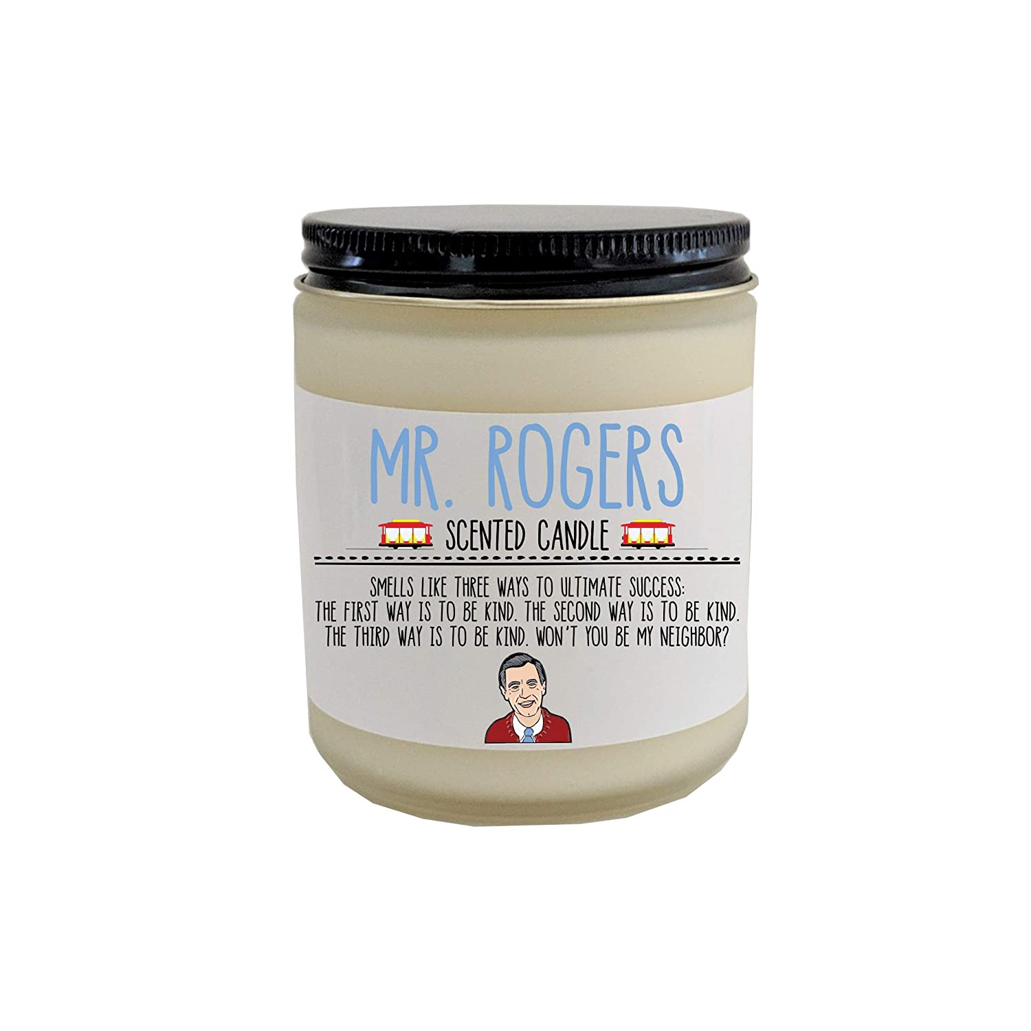 Mr Rogers Gift Scented Candle Mr Rogers Neighborhood Fred Rogers Quote Pop Culture Gift