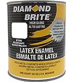 Diamond Brite Paint 80000 1-Quart Latex Gloss Enamel, White