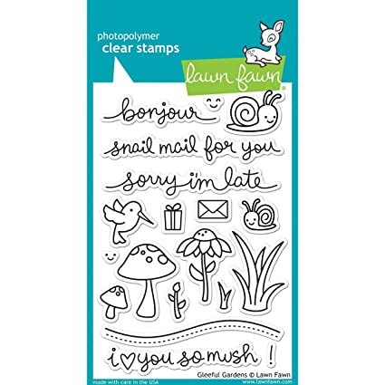 Lawn Fawn Clear Stamps LF799 Gleeful Gardens