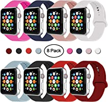 IYOU Sport Band Compatible with Watch Band 38MM 42MM 40MM 44MM, Soft Silicone Replacement Sport Strap Compatible with...