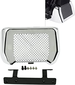 Amazon Com Motorcycle Oil Cooler Cover Case With Bracket Fit For Harley Touring Road King Road Street Glide Freewheeler Flhr Flhx 2017 2020 Chrome Automotive