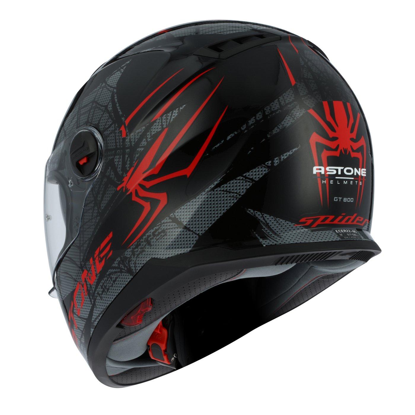 Amazon.es: Astone Helmets gt800-spider-rbm casco Moto Integral GT 800, rojo/negro, talla M