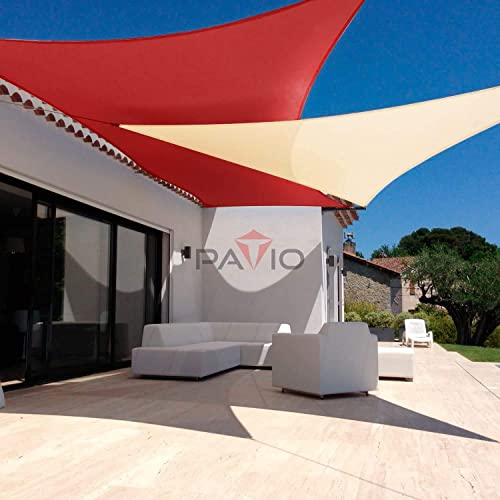 Patio Paradise 18 x 18 Sun Shade Sail with 8 inch Hardware Kit, Red Square Canopy Durable Shade Fabric Outdoor UV Shelter Cover – 3 Year Warranty – Custom