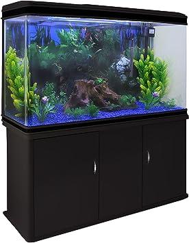 Monstershop Aquarium Starter Komplettset Aquarium Mit Passendem Unterschrank Kies Aquarium Hintergrund Amazon De Haustier