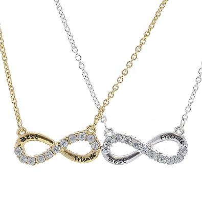 Freundschaftsketten best friends  Claire's Damen-Halskette Infinity Freundschaftskette Gold / Silber ...