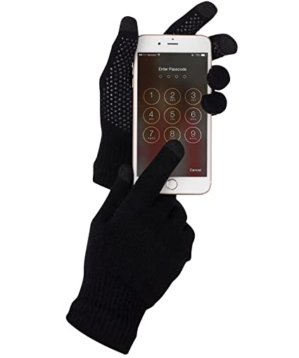 Fosmon Touch Screen Gloves, Unisex Winter Touch Scren Gloves [Three Conductive Fingertips] for iPhone, iPad, Samsung, LG, Nokia Smartphones, Tablets & ...
