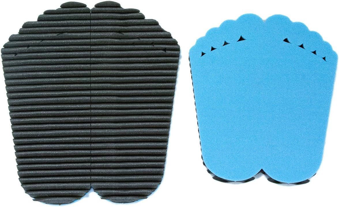 Leggerodesign FootWave Set 2 Tapis After Sport avec Effet de Massage pour prot/éger Les Pieds des germes et des Champignons dans la Salle de Sport Petit: 30x34cm Grand Format: 33x38cm