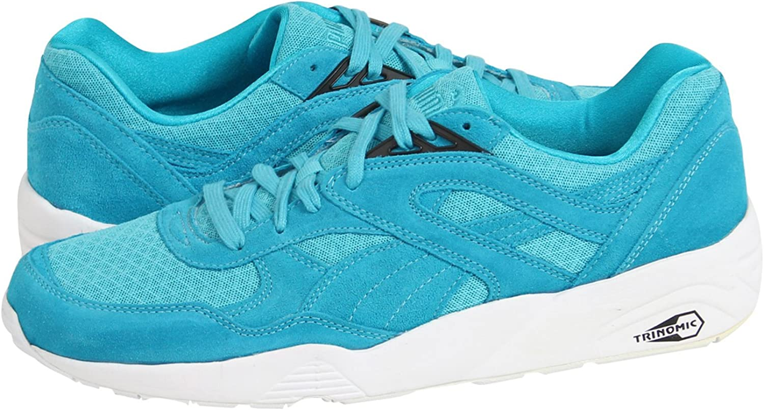 PUMA Men s R698 Allover Suede Trinomic Shoe