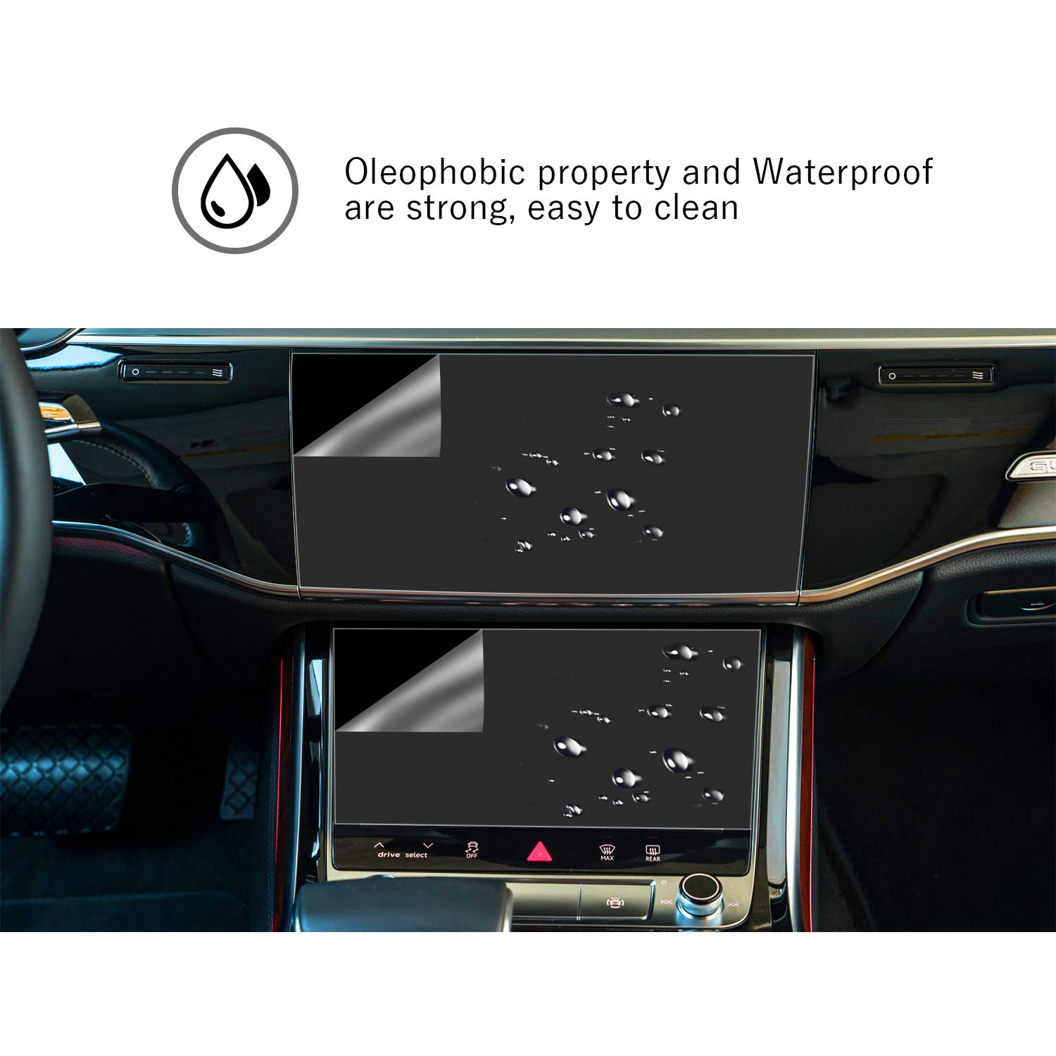 YEE PIN 2019 Audi A7 7Inch High Temperature Resistant Polyester Thin Film 4Packs High Wear Resistance High Definition Touch Sensitive Light Thin /& Easy to Install Protective Film 6.70925E+11