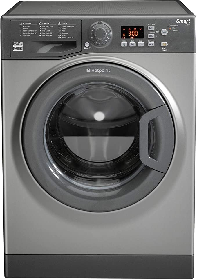 Hotpoint 8kg 1600 Spin Washing Machine in Graphite WMFUG863G [Energy Class A+++]