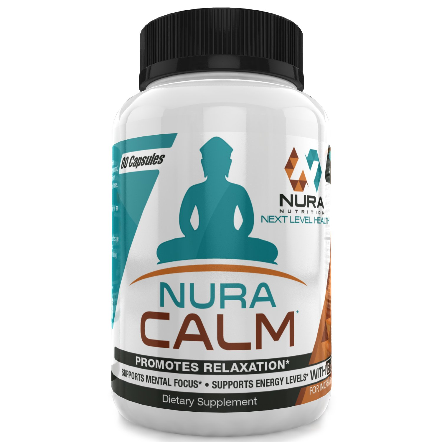 Nura Calm for Focus, Energy, Memory & Clarity, All Natural Nootropic Brain Booster Calming Supplement Sharpens Mind & Elevates Mood - Herbal Blend & Vitamin B Complex