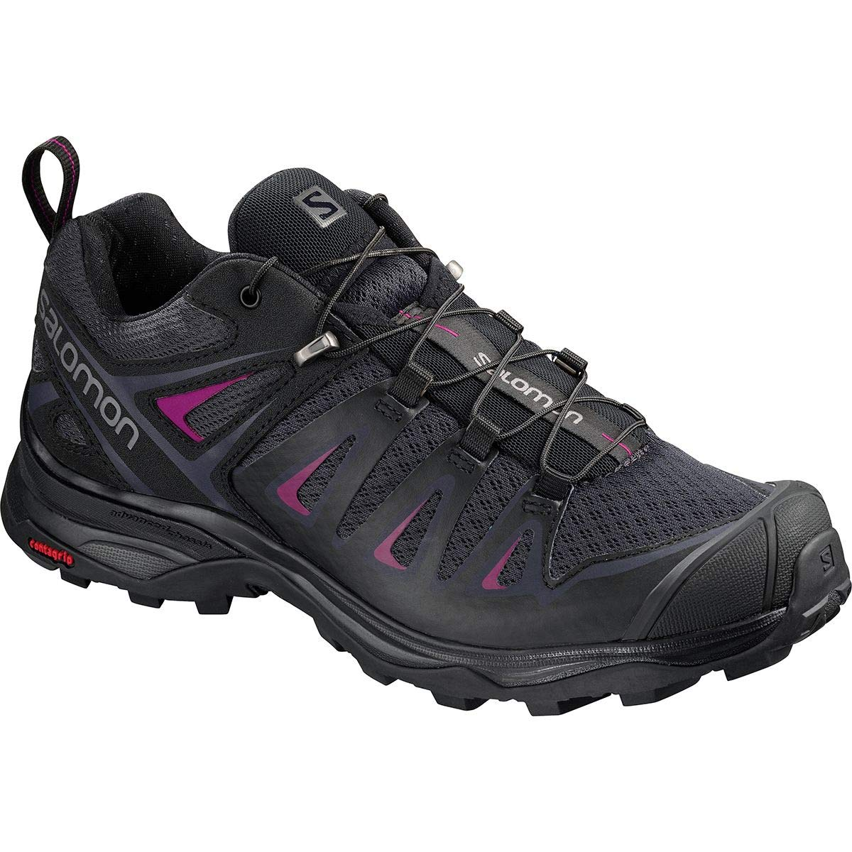 SALOMON Women's X Ultra 3 W Trail Running Shoe, Graphite/Black/Citronelle, 8 M US by SALOMON