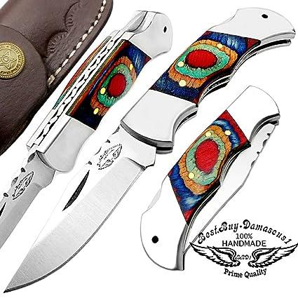 Amazon.com: Multi Color Madera Custom hecho a mano doble ...
