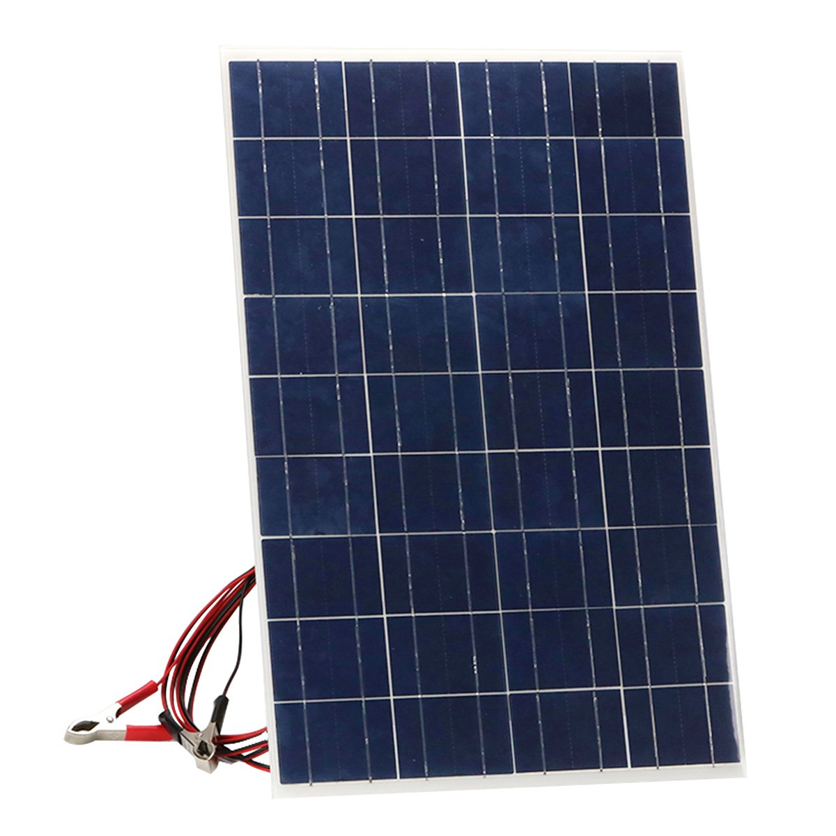 TISHI HERY 30W Solar Panel 18V 12V Semi Flexible Lightweight Thin Solar Panel Charger for RV, Car, Motorcycle, Boat