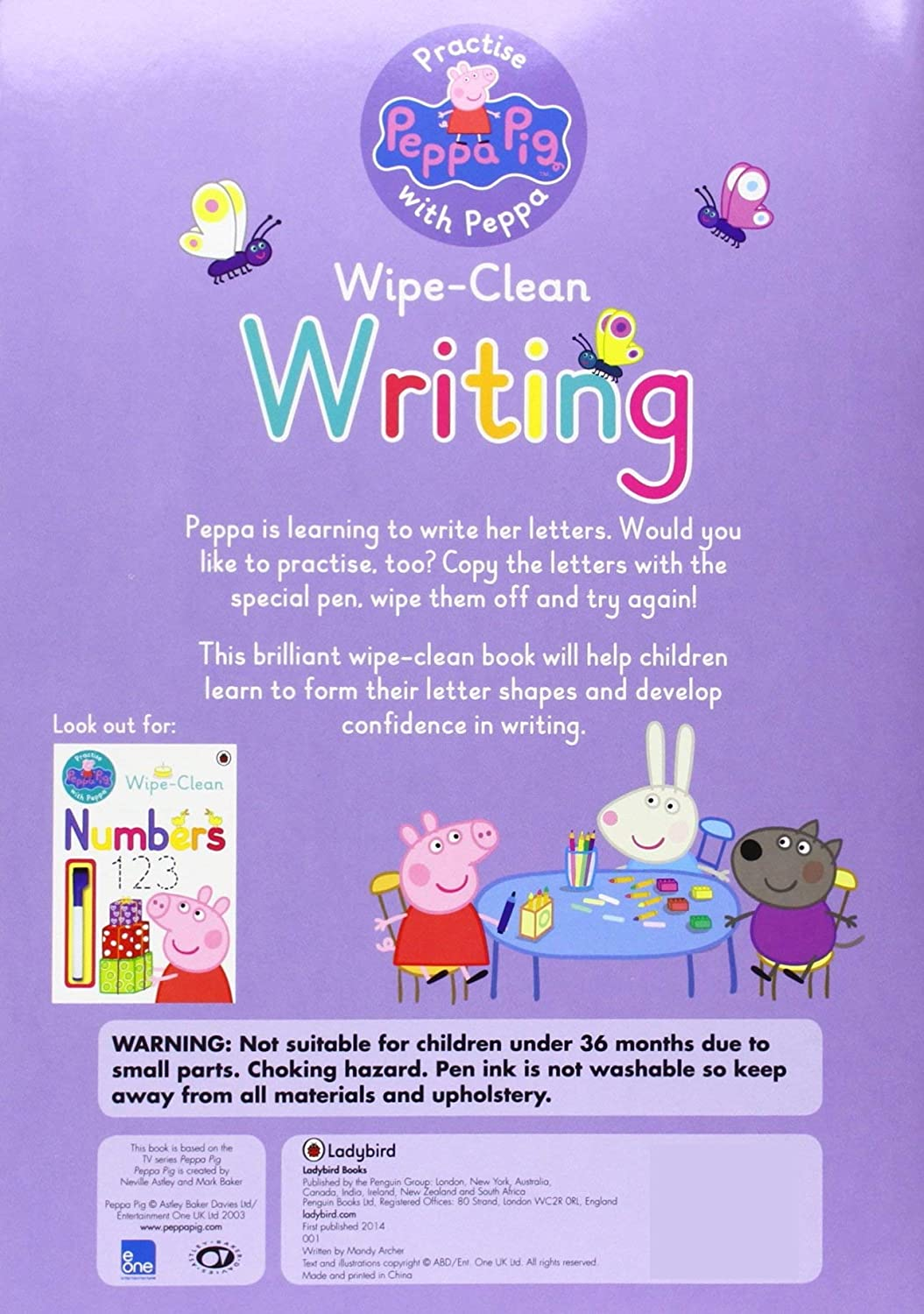 Lady Bird Peppa Pig Wipe Clean Fun First Letters Book for Little Hands Ages 3-6 Years