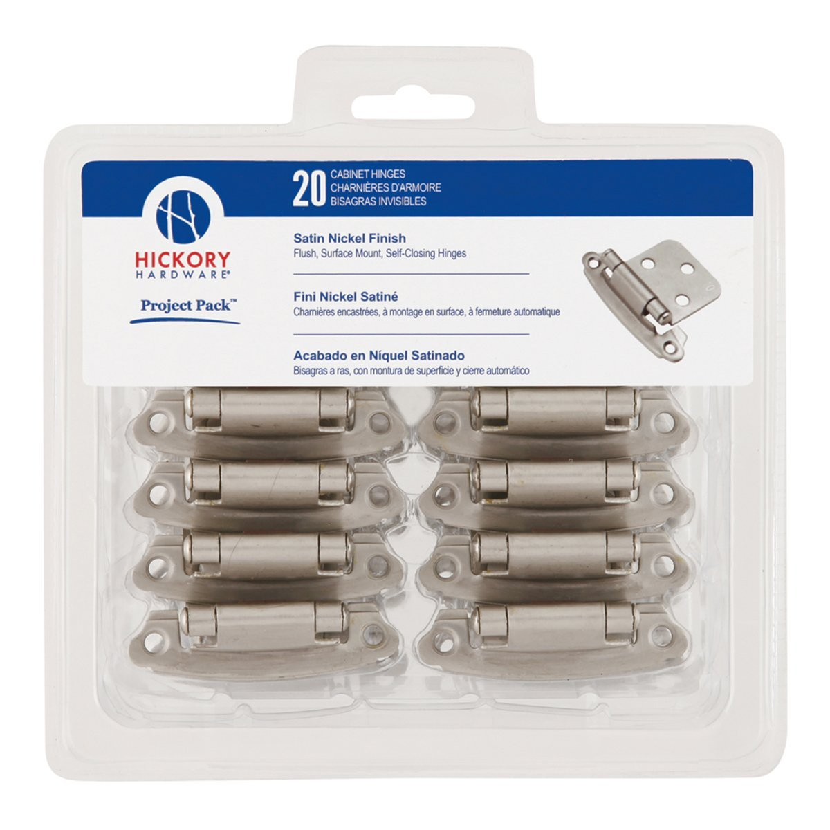 Superieur Hickory Hardware VP244 SN Project Pack Surface Self Closing Flush Hinge,  Satin Nickel     Amazon.com