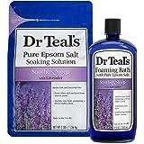 Dr Teal's Epsom Salt Soaking Solution and Foaming Bath with Pure Epsom Salt, Lavender