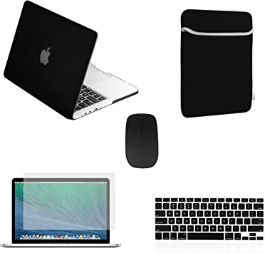 """LCD+Bag+Mouse for Macbook Pro 13/"""" Matte Chevron GREY Hard Case Keyboard Cover"""