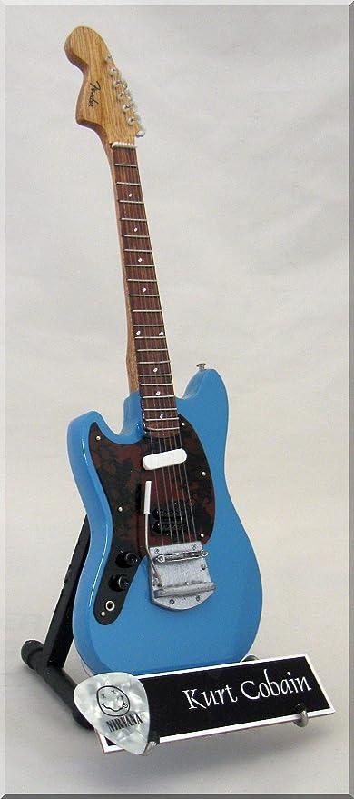 Kurt Cobain en miniatura Mini guitarra Fender Jagstang Nirvana ...