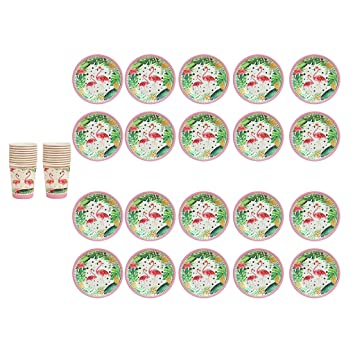 Homyl 20 Pcs Platos Vasos Servilleta de Papel Flamenco ...