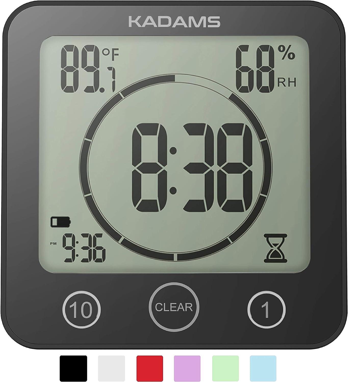 Shower clock-KADAMS Digital Bathroom Shower Kitchen Clock