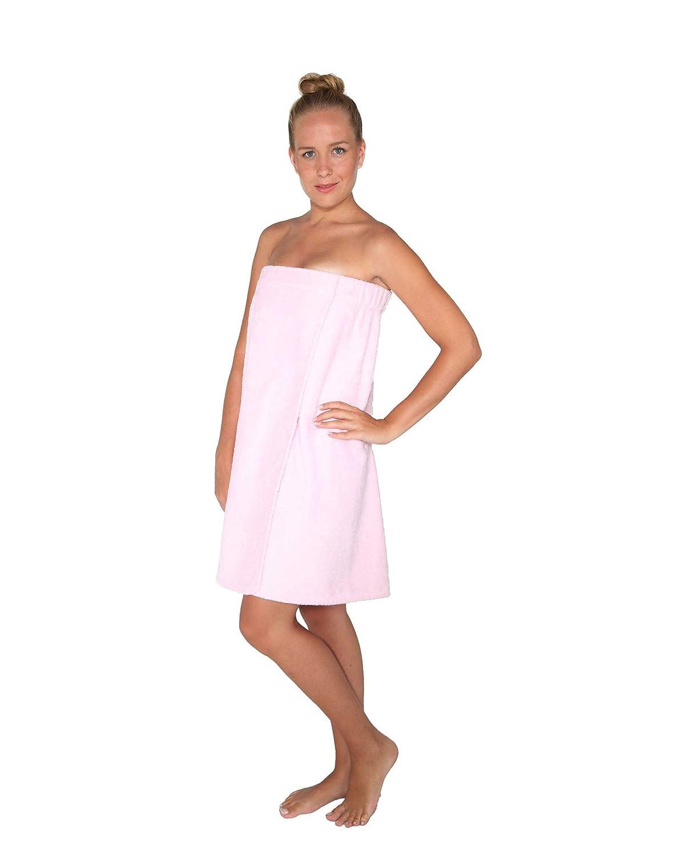 Arus Women's Organic Turkish Cotton Terry Cloth 340 g/m² Adjustable Closure Spa Shower and Bath Towel Wrap