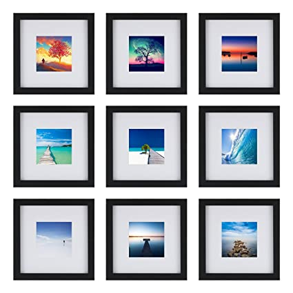 Amazon.com - One Wall UPGRADED Tempered Glass 9PCs 8x8 Picture ...