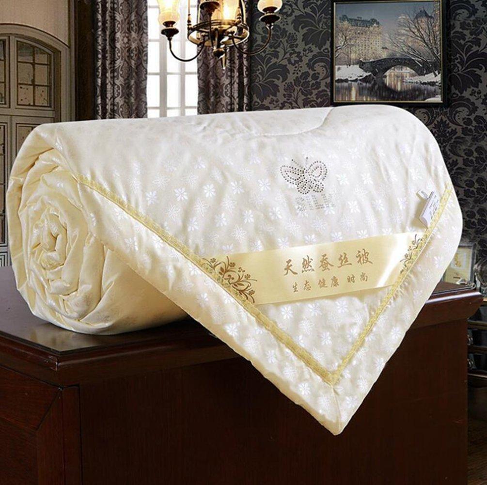 elegantstunning Handmade Silk Summer Cool Air Conditioning Quilt 150200 Beige