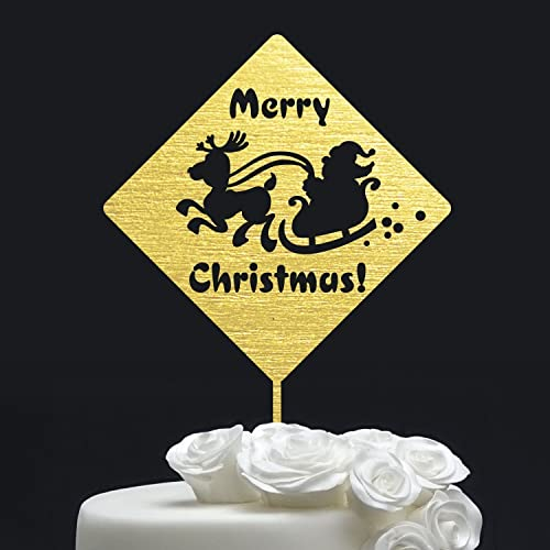 merry christmas cake topper gold glitter cake topper christmas decorations silver cake - Christmas Cake Decorations Amazon