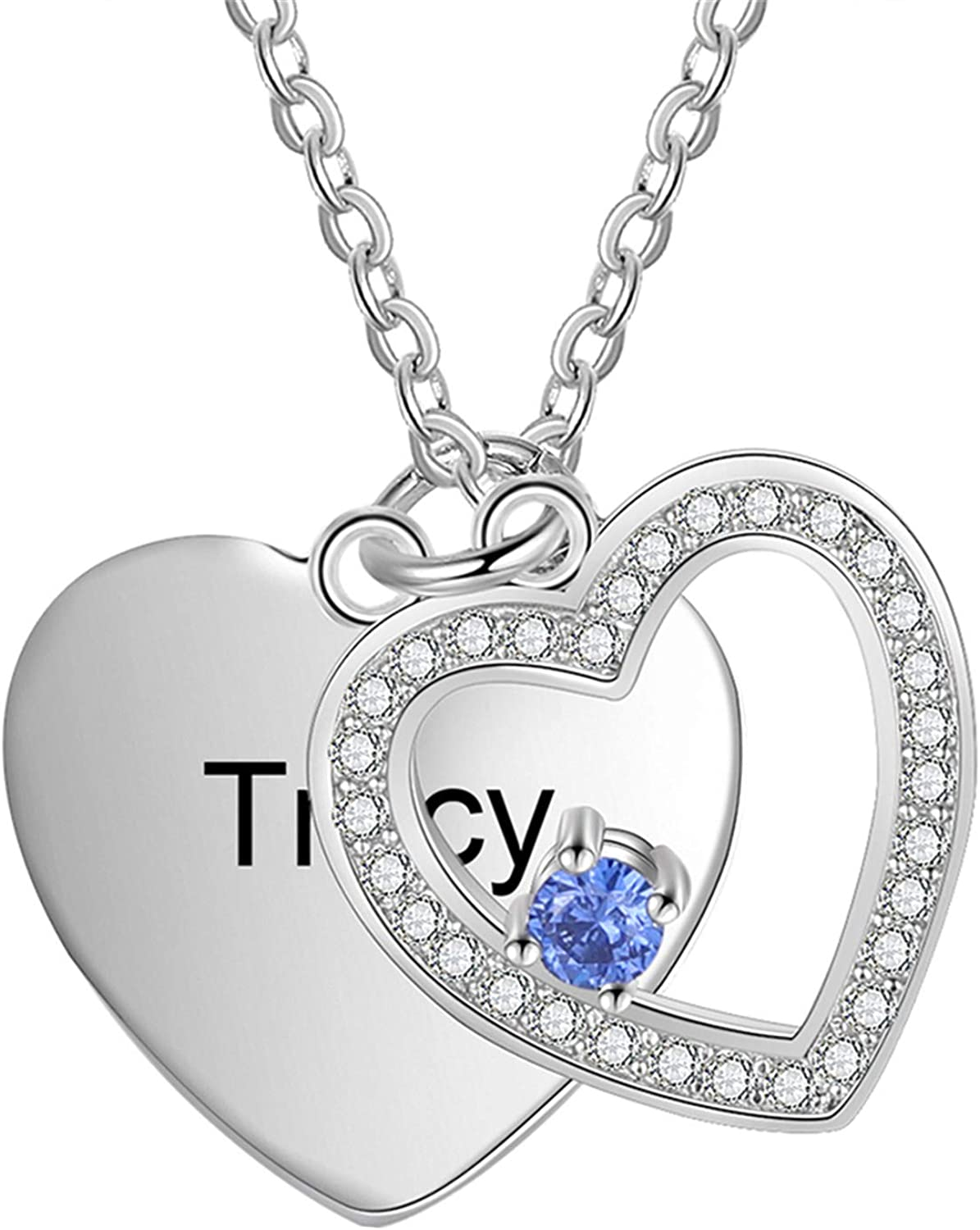 Personalized Name Necklace Christmas Gifts for her Personalized Jewelry Gift Custom Zircon Necklace Necklace for Women