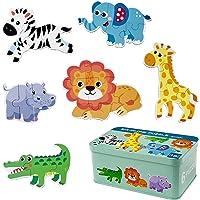 Comius Sharp Puzzle de Madera, 6 Pack Rompecabezas Puzzle Juguetes Bebes para Niños de 1 2 3 4 5 Años Montessori…