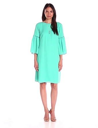 Jessica Howard Women's 3/4 Sleeve Lace Shift, Turquoise, 8