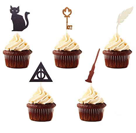 Lot De 15 Décorations De Cupcakes Inspirées De Jevenis Harry Potter
