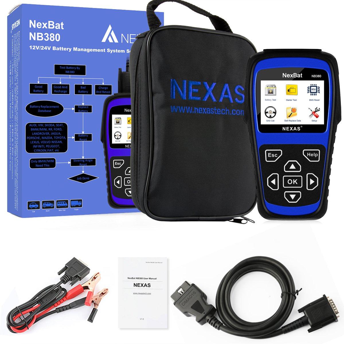 Amazon.fr : NEXAS Auto testeur de Batterie Nb380 Check 100 ...