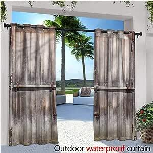 warmfamily Cortina de privacidad rústica para Exteriores para pérgola de Madera Nature Forest con Aislamiento térmico y Repelente al Agua para balcón: Amazon.es: Jardín