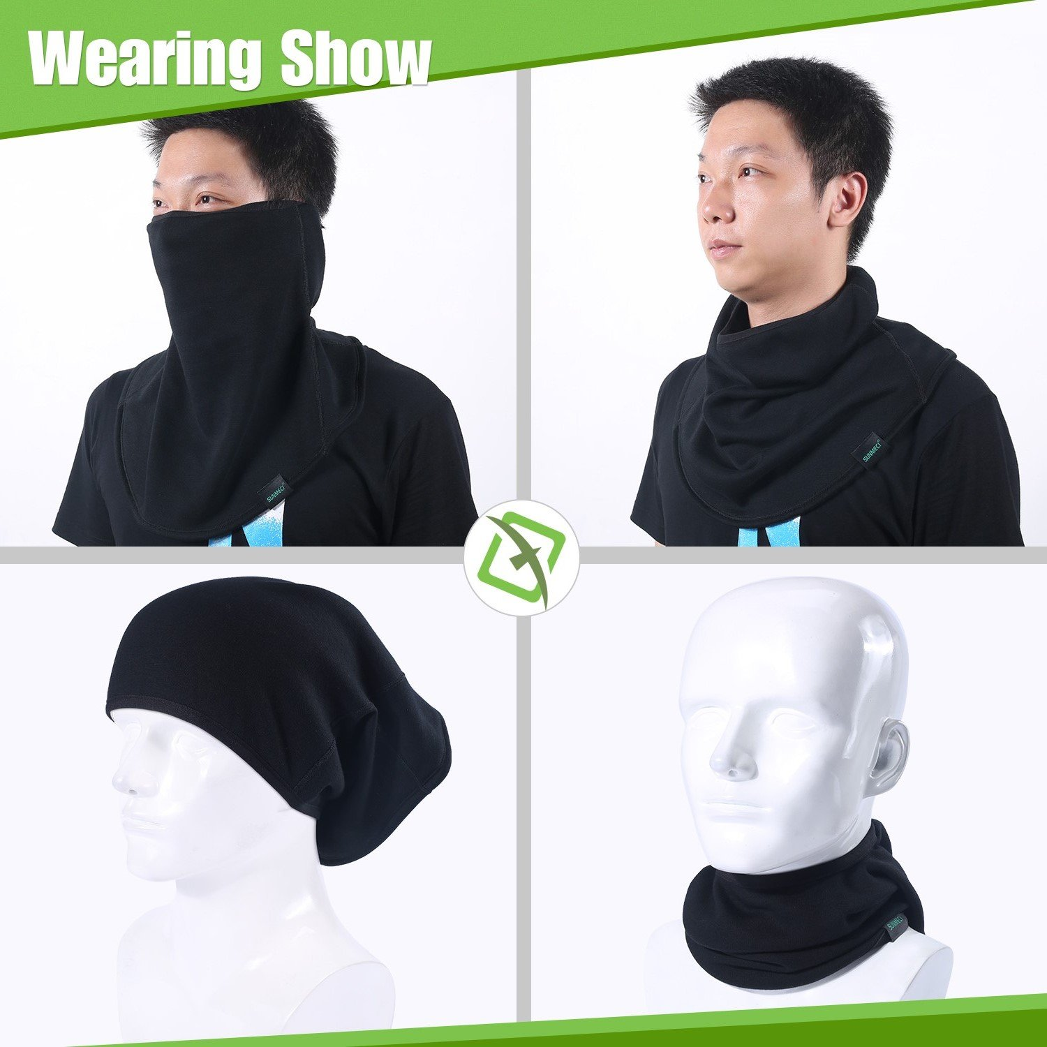 7fa6233435b Windproof Face Scarf Mask - Dust Elastic Thin Summer Cycling Hiking Neck  Gaiter …  Amazon.ca  Sports   Outdoors