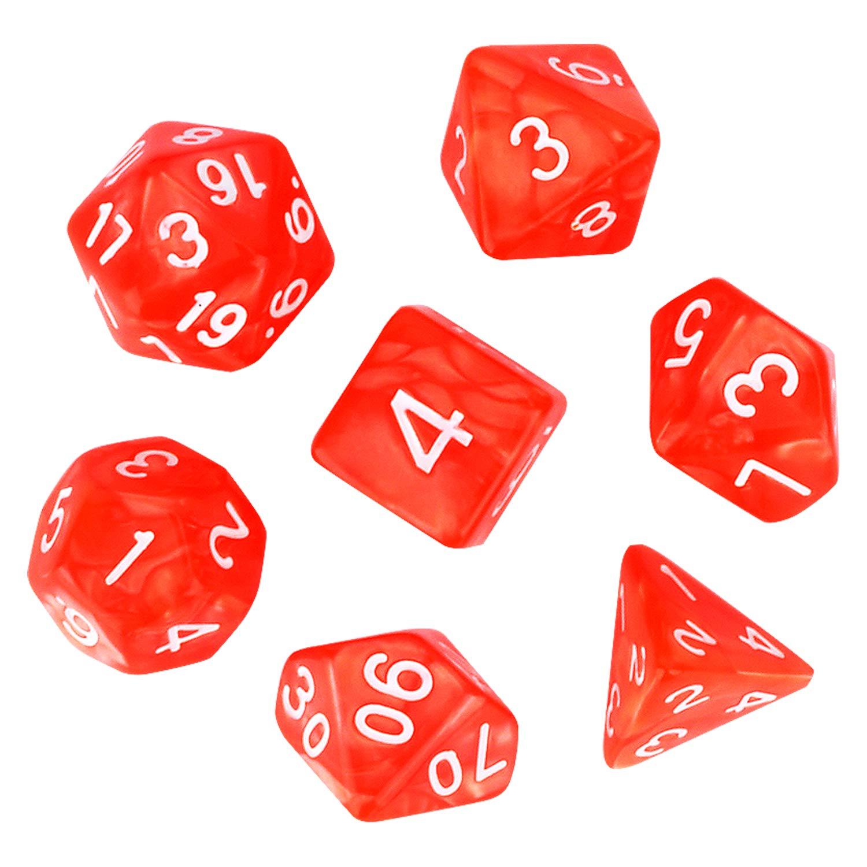 D12 FLASHOWL Polyedrisches W/ürfel-Set Tischspiele W/ürfel 1 S/ätze W/ürfel mit Beutel Die Serie D20 7 St/ück D8 1 Satz mit 5 Farben D10 D6 D4 W/ürfel DND RPG MTG Einzelfarben f/ür EIN St/ück