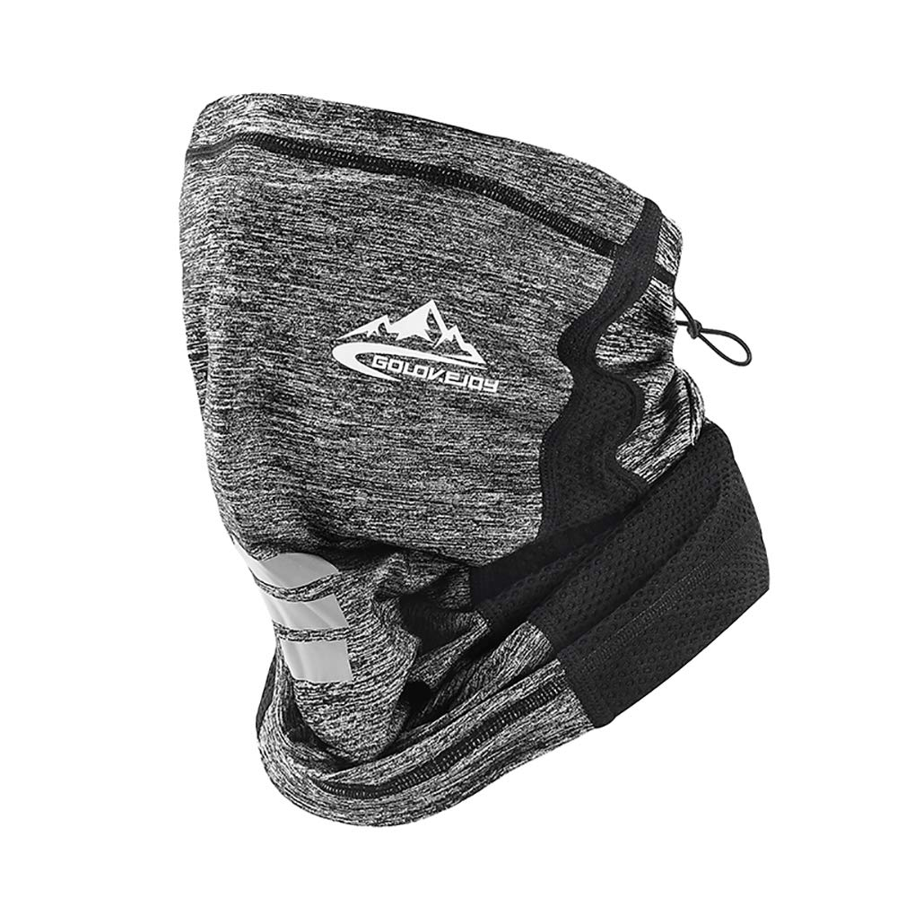 Hiking Cycling Winter Bandana Face Cover Washable Snood Tube Scraf UV Protection for Running LUNGEAR Neck Gaiter Warmer 2 Pcs Skiing
