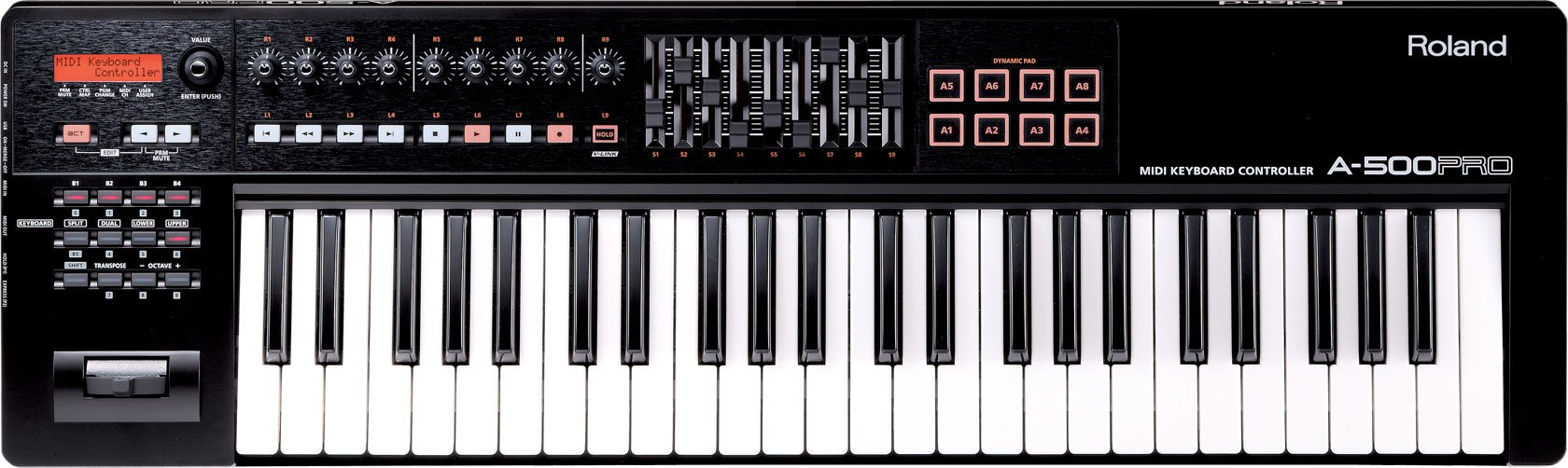 Roland 49-key MIDI Keyboard Controller, black (A-500PRO-R) by Roland