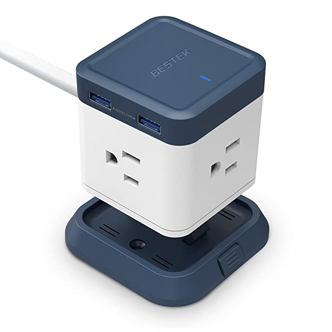 Merveilleux BESTEK USB Power Strip Travel Cube 3 Outlet And 4 USB Charging Station With  Mountable