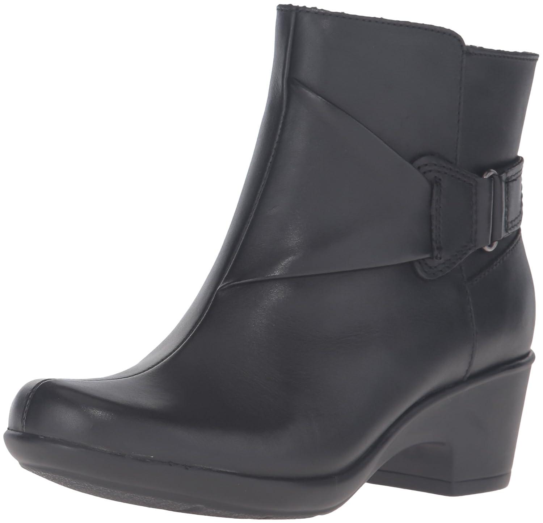 CLARKS Women's Malia McCall Boot B0198WK6OU 8 B(M) US|Black Leather