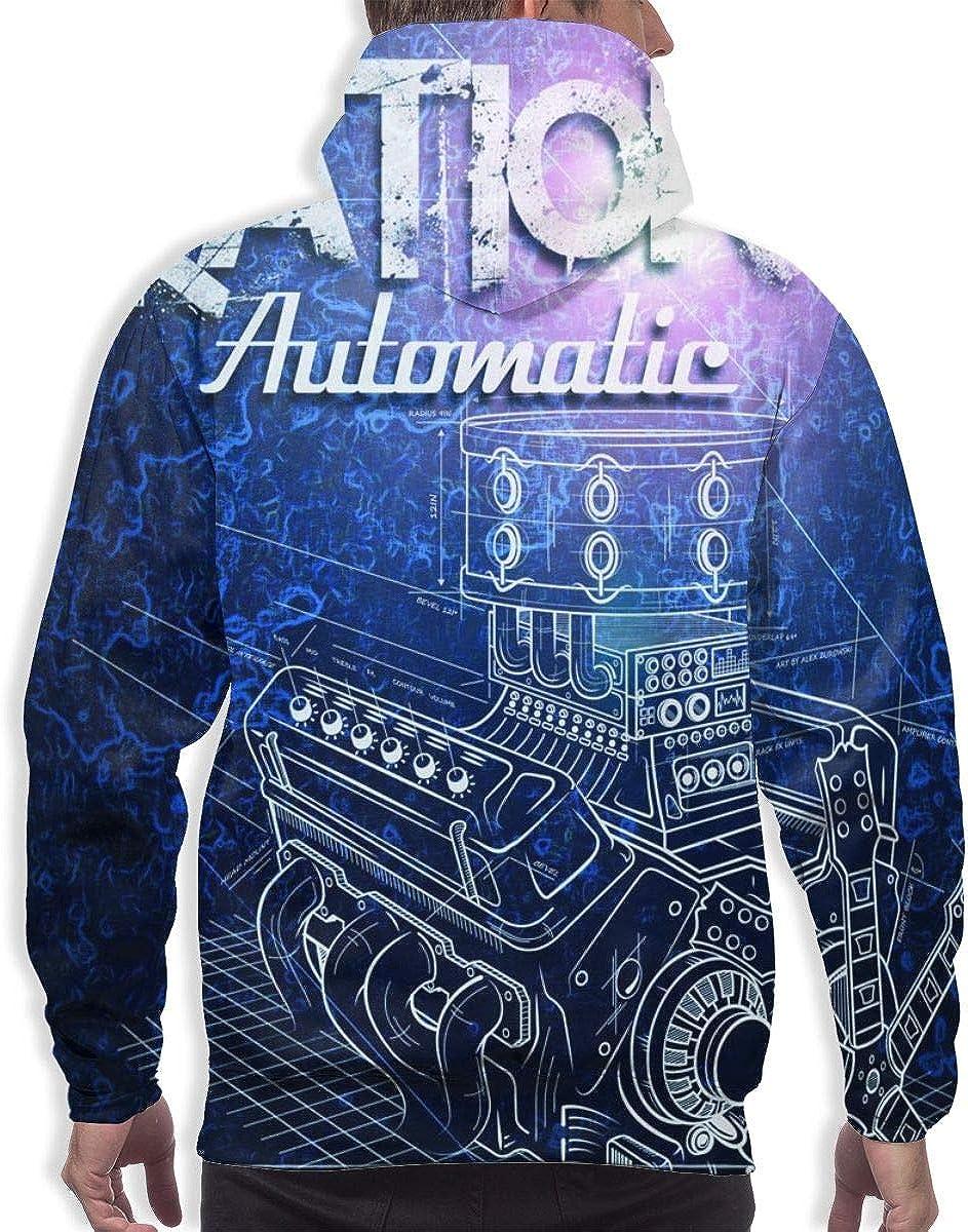Majunnn Iration Automatic Men Comfortable Hooded Sweatshirt Black